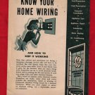 """Know Your Home Wiring""  Brochure"