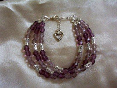 Pretty Purple Beaded Bracelet