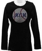 Baseball Mom Long Sleeve Top Size large