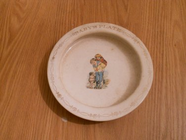"""Antique USA china 1920's """"Baby Plate"""""""