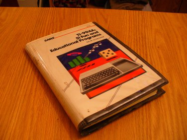 TI-994a educational programs on data cassette (Texas Instruments Computer System)