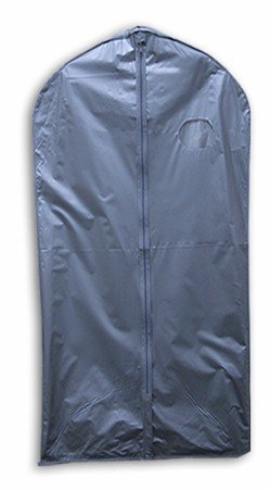 "NEW GRAY VINYL SUIT & DRESS GARMENT BAG 24"" W x 54"" L"