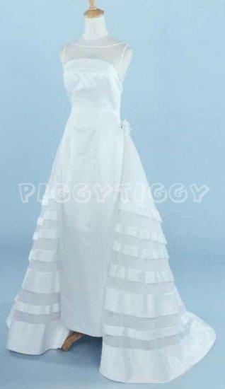 NEW BEAUTIFUL SHEATH WEDDING DRESS BRIDAL GOWN SIZE 10