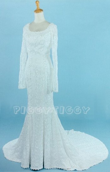 FITTED MERMAID STYLE SHEATH WEDDING DRESS GOWN SIZE 12