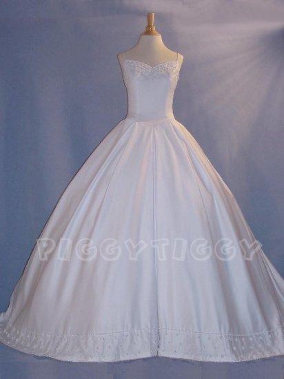 NEW EXTRAORDINARY Ivory Wedding Gown Bridal Dress SIZE 10
