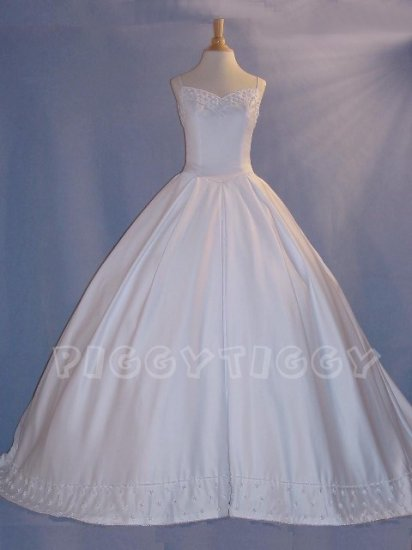 NEW EXTRAORDINARY Ivory Wedding Gown Bridal Dress SIZE 12