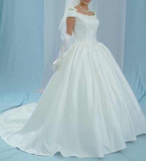 NEW UNIQUE MESMERIZING WEDDING BRIDAL DRESS GOWN SIZE 14