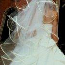 4 Tier White Wedding Bridal Veil Fingertip Length Wedding Dress Tiara V111wt