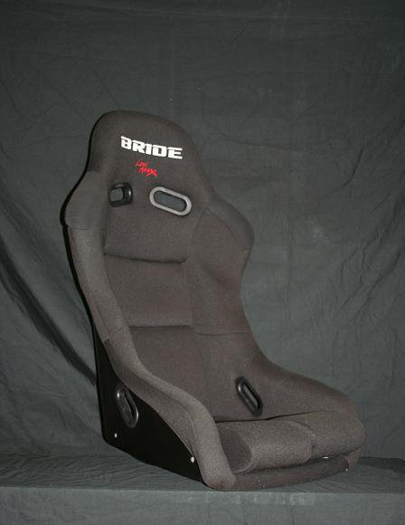 Single Bride Vios 3 Style Bucket Racing Seat Low Max Black