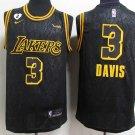 Anthony Davis Jersey 3# Los Angeles Lakers Black Stitched Basketball Jersey-Size S-2XL