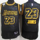 Lebron James  Jersey 23# Los Angeles Lakers Black Stitched Basketball Jersey-Size S-2XL