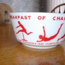 Wheaties Breakfast Of Champion  Bowl 1930's,