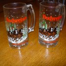 1989 Budweiser King of Beers Clydesdales Collector Mugs Set of Two