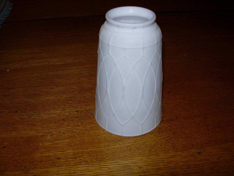 "Vintage 6"" Milk Glass Lamp Shade"