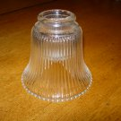 """Vintage 5"""" Clear Glass Bell Shaped Lamp Shade"""