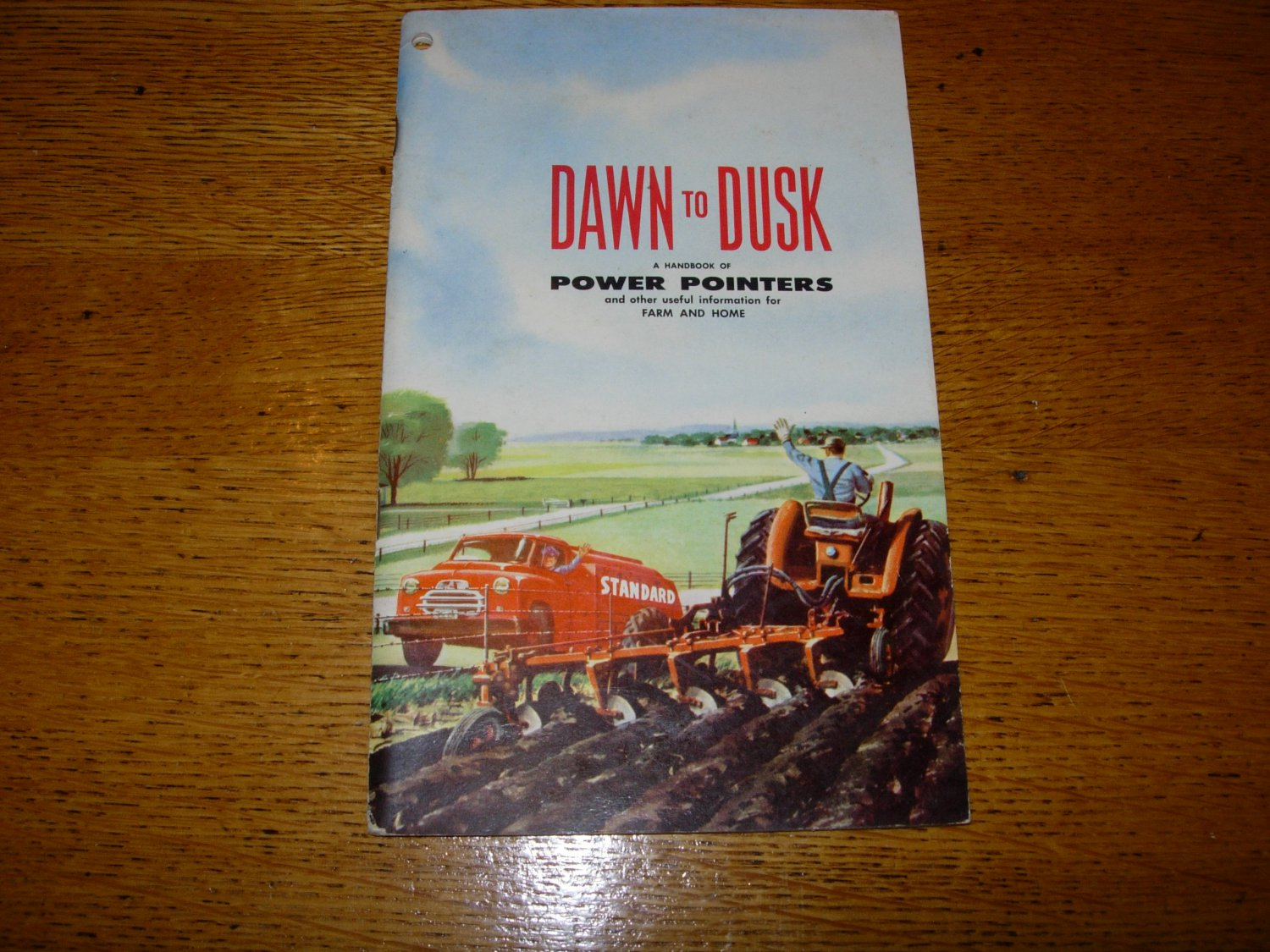 1955 Dawn to Dusk Farming Handbook from Standard Oil Co