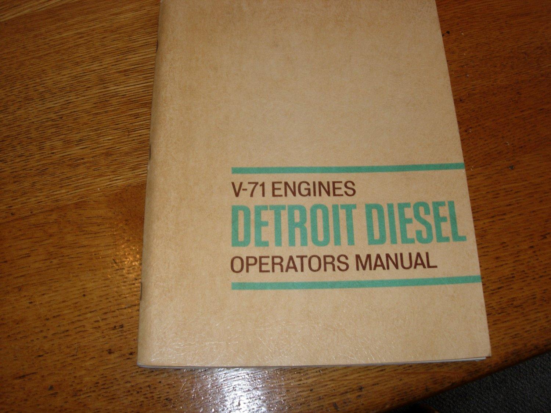 V-71 Detroit Diesel Operators Manual Nov 1965