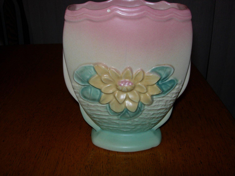 Vintage Hull Art Pottery Waterlily Vase L6-6 1/2