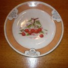 Vintage D.E. McNicol China Diner Plate with Cherry Design Clarksburg W Va