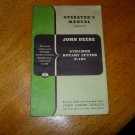 Original John Deere Gyramor Rotary Cutter P-107 Operators Manual