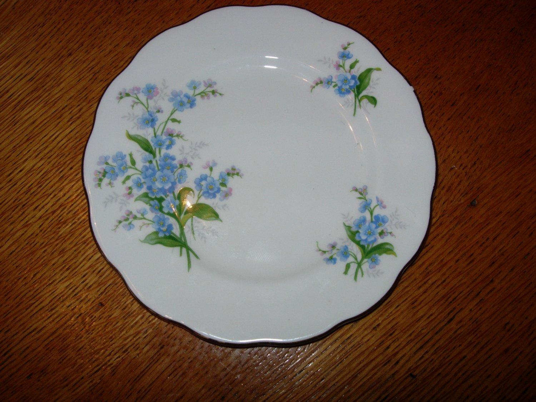 Vintage Royal Albert Forget Me Not Desert Plate