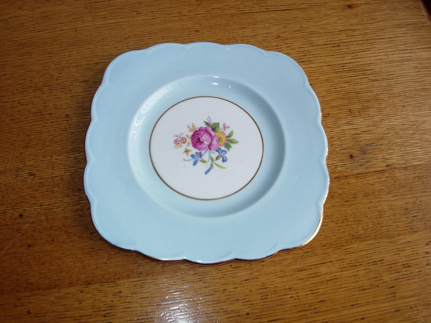 Royal Grafton Bone China Salad Plate with Rose Pattern