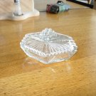 Vintage New Martinsville Crystal Clear Dresser Box/Powder Jar