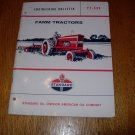 Farm Tractors Engineering Bulletin FT-53S Standard Oil Division