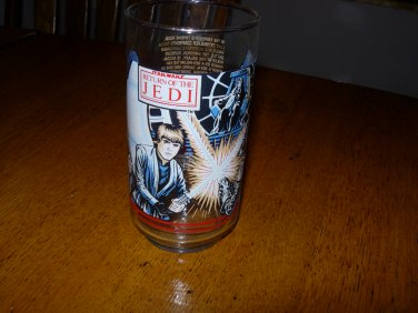 "Vintage 1983 Coca Cola/Burger King Star Wars ""Return of the Jedi"" Promo Collector Glass"