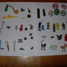 Lot of 54 Vintage Celluloid/Plastic Cracker Jack/Gumball Prizes
