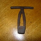Antique T-handled Square Nut Driver Tool/Buggy Wrench