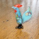 Vintage Miniature Blown Glass Rooster Made in Occupied Japan