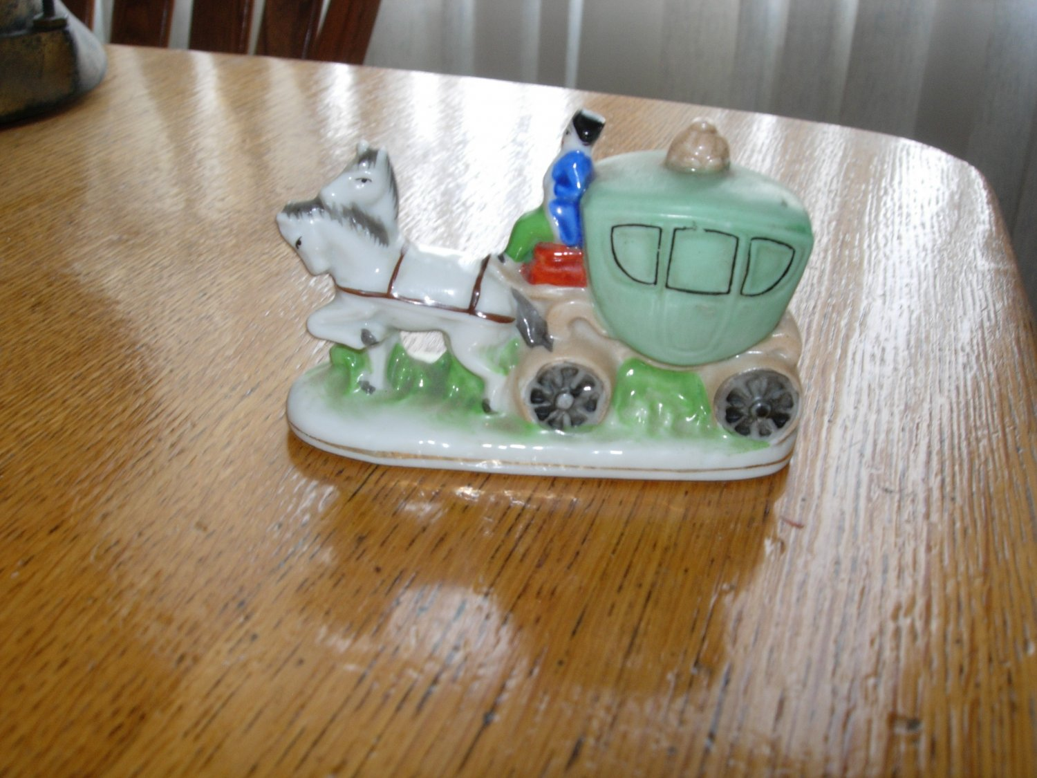 Vintage Occupied Japan Horse and Carriage Figurine