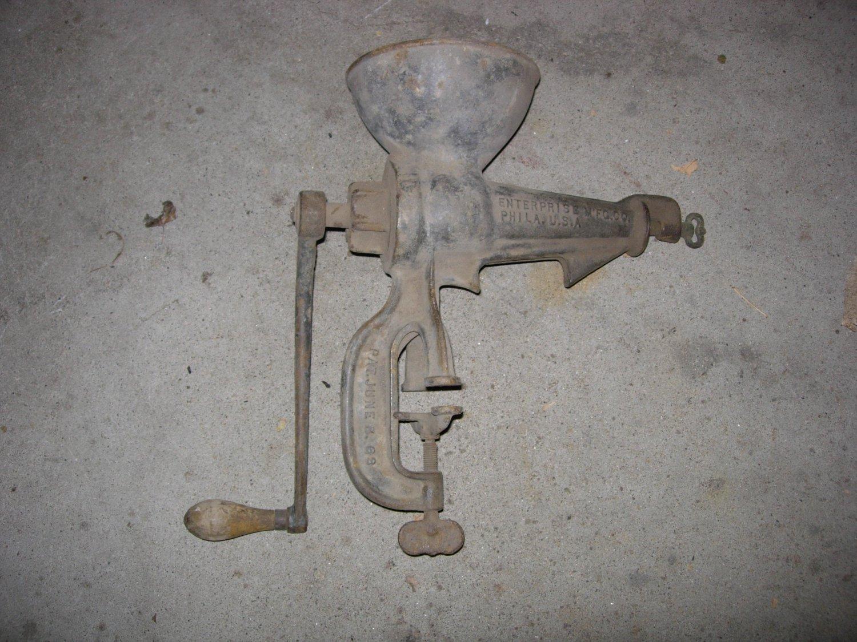 Antique 1895 Embossed Cast Iron No 34 Enterprise Juicer Fruit Press Wine Tool