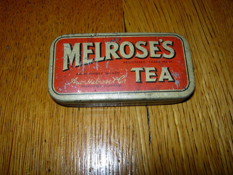 Antique Melrose's Tea Tin--- Small 3/4 oz Container
