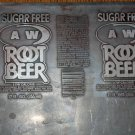 Sugar Free A&W Root Beer 12oz can Printing Plate