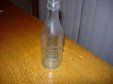 Vintage Clear Embossed St Peter Bottling Works Soda Bottle