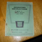 Vintage Oliver Model 74 Tractor Mounted Corn Picker Operating Instructions Manual