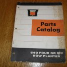 Vintage Oliver 540 Four and Six Row Planter Parts Catalog