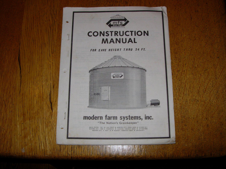Modern Farm System Grain Storage Bin Construction Manual