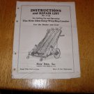 New Idea L-135 Easy-way Hay Loader Set Up and Operators Manual