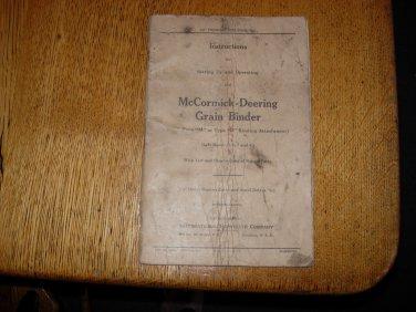 1934 McCormick-Deering Type M and D Grain Binder Manual