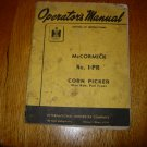 McCormick No 1-PR Corn Picker Operators Manual
