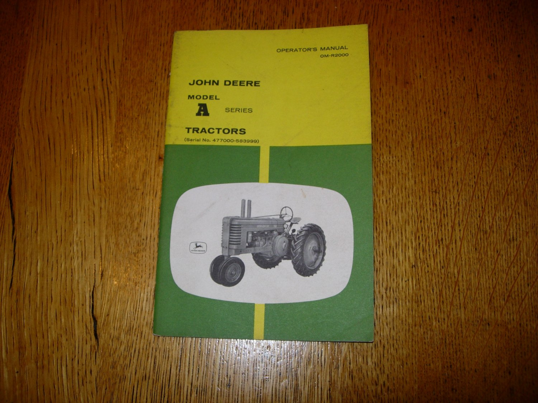 John Deere Modeal A Tractor Operator's Manual