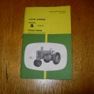 John Deere Modeal A Tractor Operator's Manual