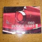 Original 1960 Dodge Dart Foldout Sales Brochure 60 Phoenix Pioneer Seneca