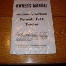 McCormick-Farmall F14 Owners Manual still in original wrapper
