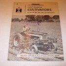 IH McCormick Front Mount Cultivators Brochure for Farmall 404-560 Tractors