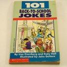 101 Back-To-School Jokes Scholastic Children's Book (1998, Paperback) 0590223798