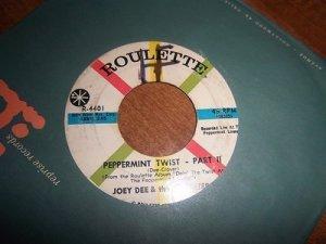 "Joey Dee & The Starliters - Peppermint Twist R-4401 VG 45 RPM 7"" Vinyl Single"